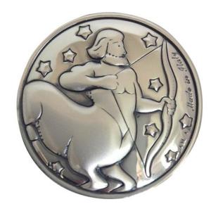 Blasone zodiaco sagittario in argento cm.0,3h diam.3