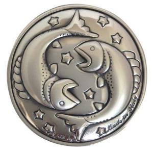 Blasone zodiaco pesci in argento cm.0,3h diam.3