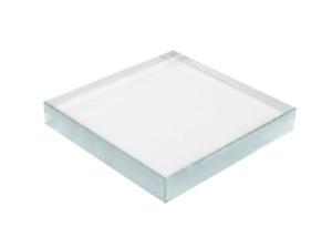 Fermacarte da scrivania in vetro cm.12x12x1,9h