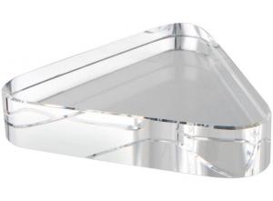 Fermacarte triangolo vetro bianco cm.9x10x1,9h