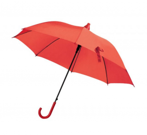 Ombrello rosso con salvagoccia automatico cm.85h diam.103