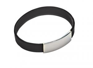 Bracciale uomo black silicon cm.1,1h diam.6,5