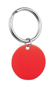 Pendente tondo rosso cm.6,5x3,2x0,5h