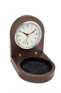 Orologio legno  ghiera cm.8,7x7,2x3,2h