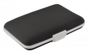 Portabiglietti silicone nero cm.11x7x2h