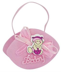 Sacchettino bomboniera baby bambina rosa cm.2,5x9x6,5h