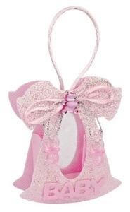 Sacchettino bomboniera angelo rosa cm.2x7,5x9h