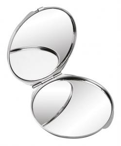 Specchietto rotondo in metallo cm.7x7x0,8h