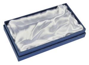 Scatola cartoncino blu interno bianco per penna e portachiave cm.16,5x10x2,5h