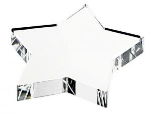Fermacarte stella in vetro cm.11x11x1,9h