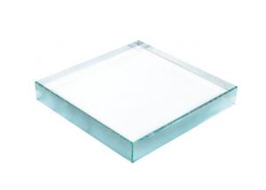 Fermacarte rettangolare in vetro cm.11x11x1,9h