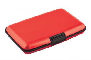 Portabiglietti alluminio rosso cm.11x7x2h