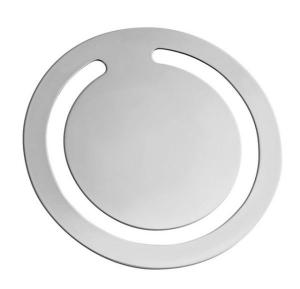 Segnalibro argentato argento rotondo cm.0,2h diam.4,5
