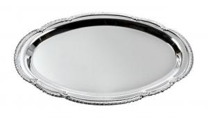 Vassoio ovale cromato cm.17x24x1h