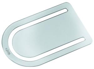 Segnalibro ovale Argentato Argento cm.6x3,5x0,2h