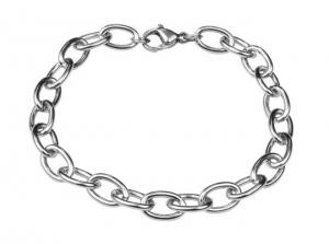 Catena acciaio ovale 6.7x10.5 cm.19x0,7x0,7h