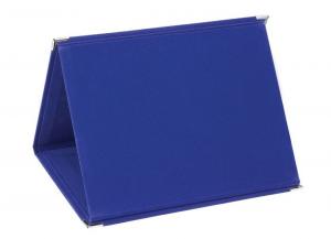Portatarga in velluto blu cm.18x14x1,5h