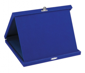 Portatarga velluto blu cm.23x19x3h