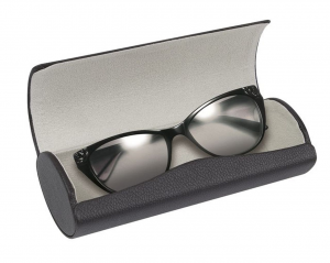 Custodia Porta occhiali nero interno grigio cm.7,5x17x5h
