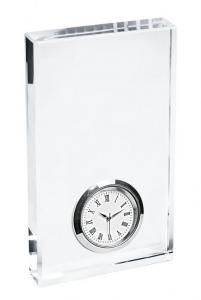 Orologio in vetro cm.7x1,9x12h