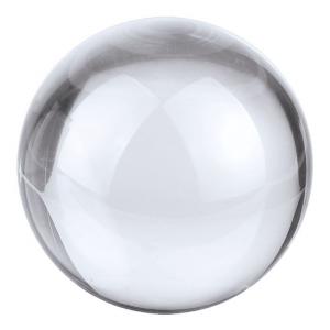 Fermacarte Sfera in vetro bianco cm.7x7x6,5h