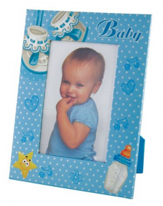 Portafoto Azzurro Bambino cm.16x21x1h