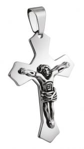 Pendente croce grande acciaio cm.3,3x5x0,2h