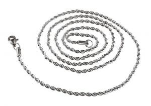 Catenella in acciaio intreccio cm.70x0,2x0,2h