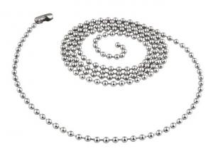 Catenella in acciaio sfere da 2,4 mm cm.70x0,2x0,2h