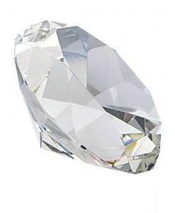 Fermacarte vetro diamante grande cm.9,8x9,8x6h