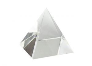 Fermacarte a foma di Piramide in vetro cm.8x8x8h