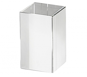 Fermacarte Parallelepipedo in vetro cm.4,9x4,9x7,9h