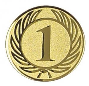 Medaglietta Piastrina Primo color oro cm.0,1h diam.2,5