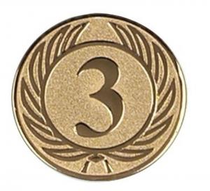 Medaglietta Piastrina Terzo color bronzo cm.0,1h diam.2,5