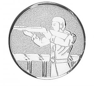 Medaglietta Piastrina Tiro a Segno cm.2,5x2,5x0,1h