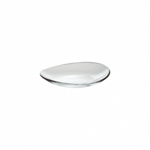 Piatto ovale in vetro cm.19x19