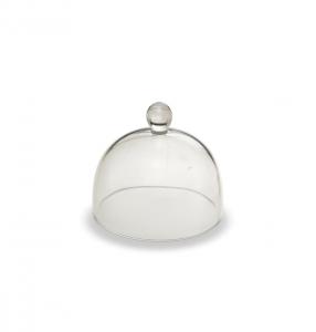 Cloche campana corpivivande in vetro cm.7h diam.7,4