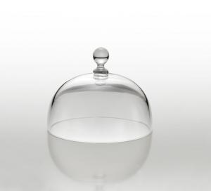 Cloche Campana Cupola Coprivivande in Vetro cm.8h diam.10,5
