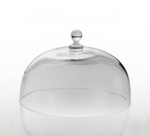 Cloche Campana Cupola Coprivivande in Vetro cm.13h diam.20