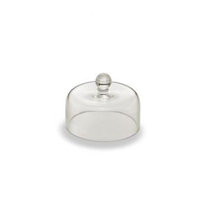 Cloche campana corpivivande in vetro cm.6h diam.7