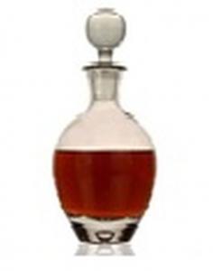 Bottiglia in vetro con tappo da 500 ml cm.22h diam.10