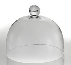 Campana in vetro Alexander altezza cm 20.5 con pomello cm.20,5h diam.27,5