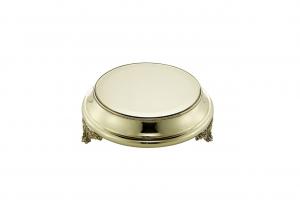 Vassoio per torta in ottone stile Perles cm.8,5h diam.27,5