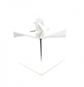 Porta kleenex quadro argentato argento stile Cardinale cm.13,5x13,5x13h