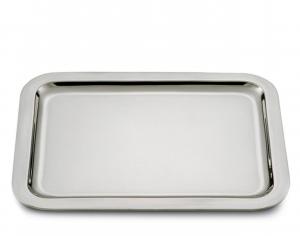 Vassoio rettangolare argentato argento stile Cardinale cm.41x31,5