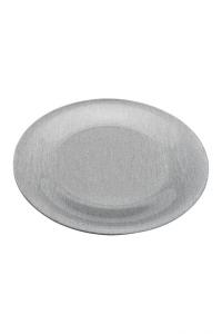Piatto Tondo in Plexiglass Color Argento cm.diam.33