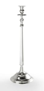 Candeliere 1 fiamma stile Inglese argentato argento sheffield cm.72h diam.24