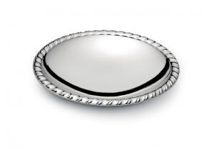 Piattino tondo argentato argento sheffield stile Liberty