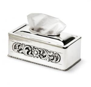 Cover portaclinex argentato argento sheffield stile cesellato cm.24x12x9,5h