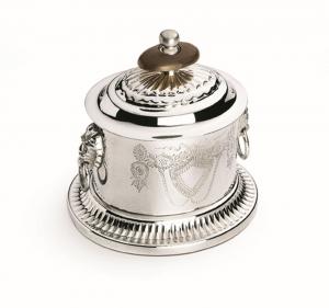 Zuccheriera argentata argento sheffield ovale stile inciso cm.9,5x8,5x9h